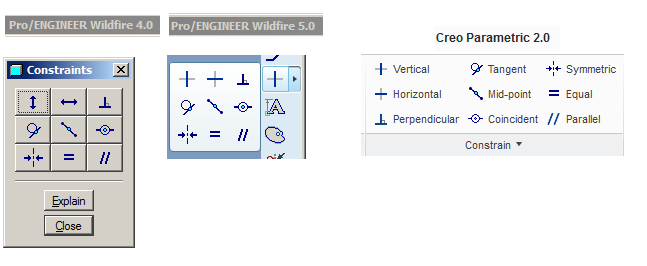 Привязки (constrains) в Pro/ENGINEER WildFire и Creo Parametric 2.0