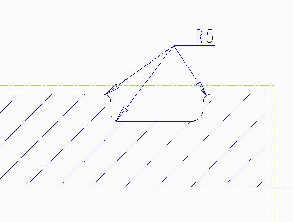 Несколько радиусов одним размером Creo